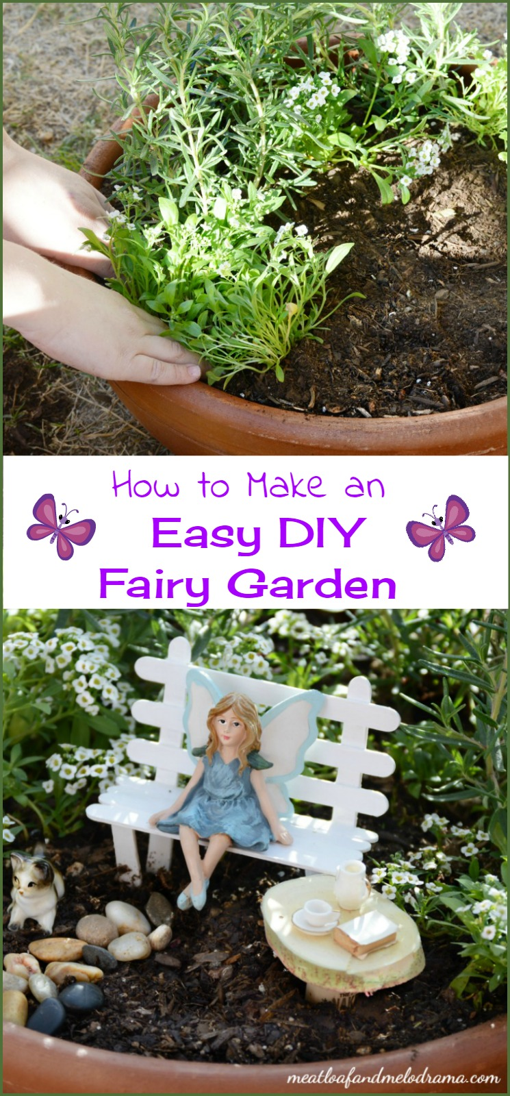 easy diy fairy garden meatloaf and melodrama. Black Bedroom Furniture Sets. Home Design Ideas