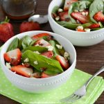 Strawberry Spinach Salad with Bacon and Gorgonzola
