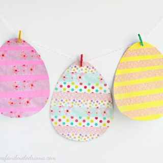 Washi Tape Easter Egg Garland