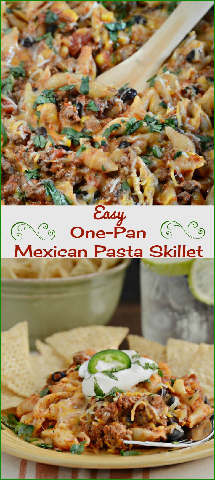 One pan mexican pasta skillet meatloaf and melodrama easy one pan mexican pasta skillet recipe forumfinder Choice Image