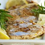 Grilled Pork Loin Chops with Lemon and Rosemary