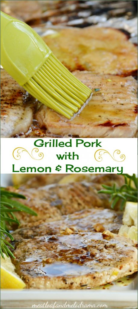 grilled pork loin chopes with lemon rosemary sauce