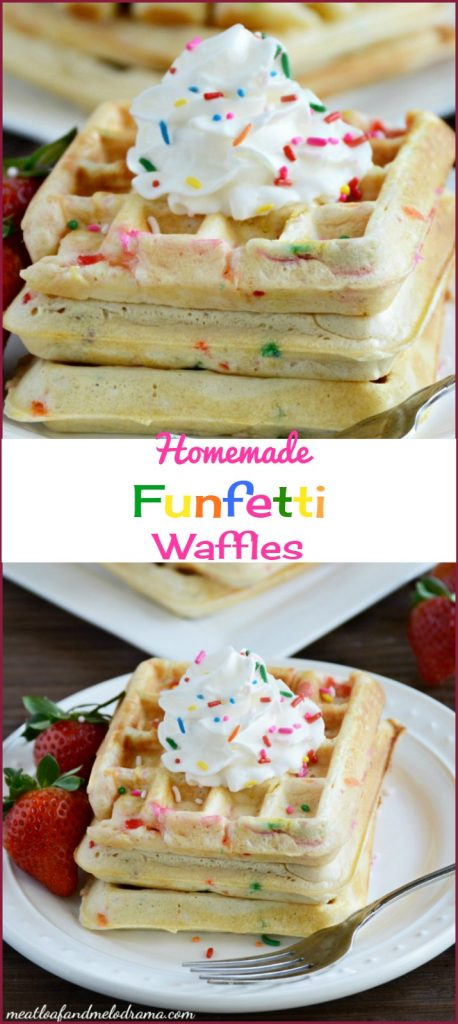 homemade funfetti waffles recipe