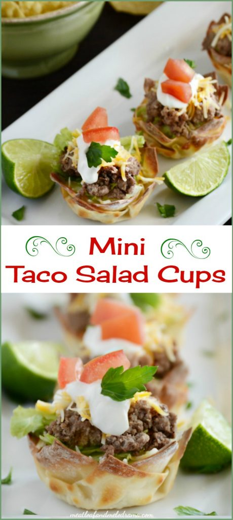 mini taco salad cups recipe