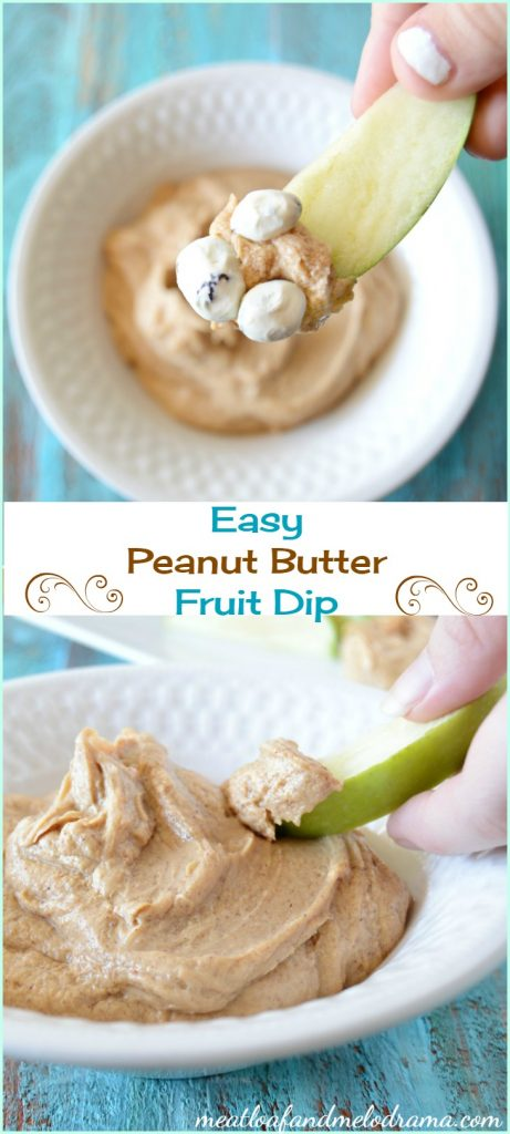 This easy peanut butter fruit dip recipe is perfect snacks or parties