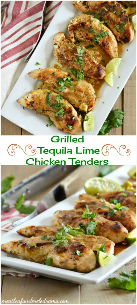 Grilled tequila lime chicken tenders recipe