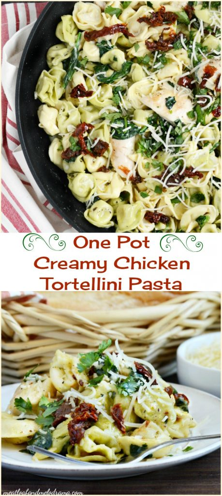 one pot creamy chicken tortellini pasta recipe