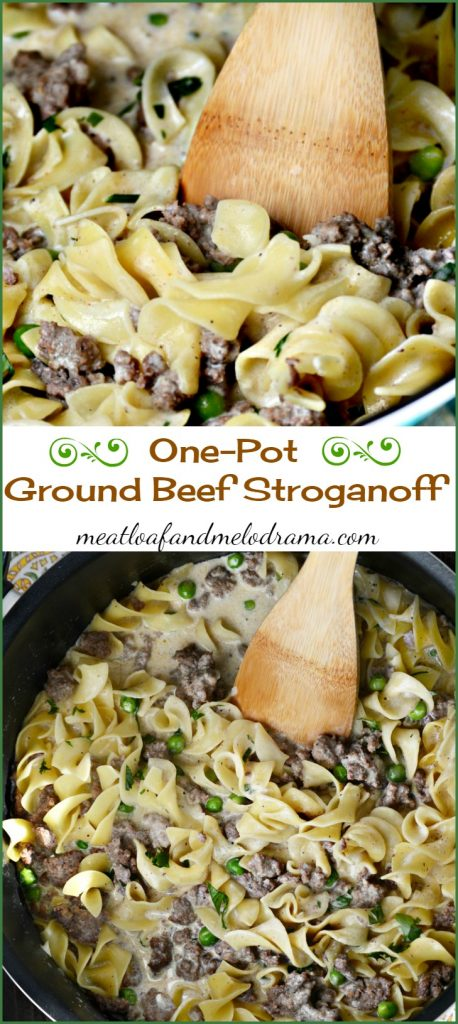 One Pot Ground Beef Stroganoff Meatloaf And Melodrama