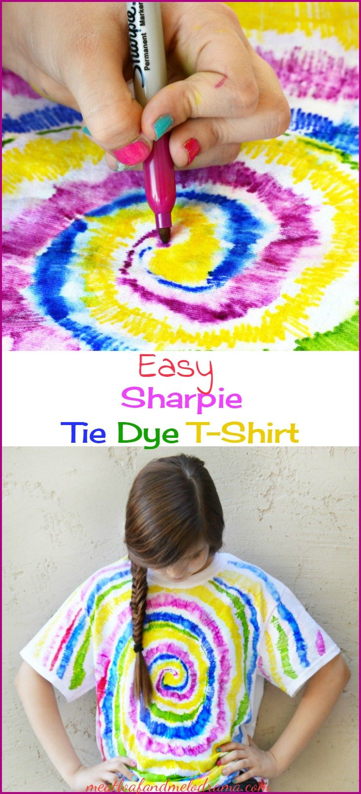 0f90a03fcd05 Easy Sharpie Tie Dye T-Shirt - Meatloaf and Melodrama