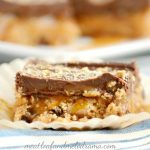 No Bake Chocolate Peanut Butter Caramel Bars
