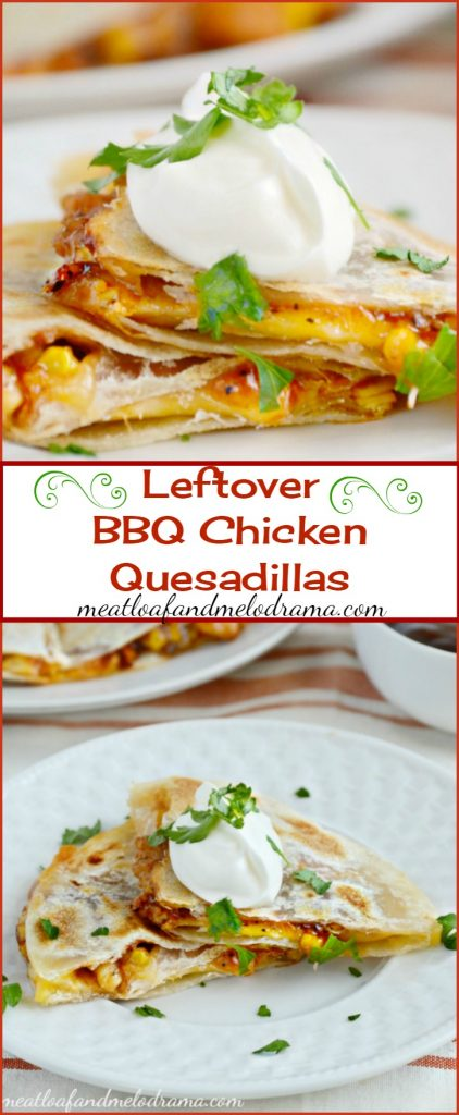 Leftover BBQ Chicken Quesadillas