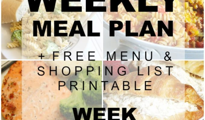 Weekly Meal Plan Special