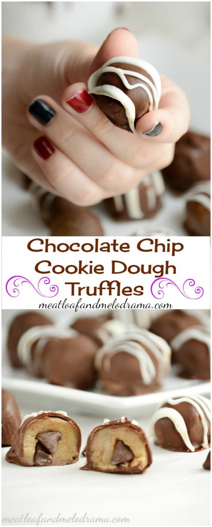 chocolate chip cookie dough truffles recipe