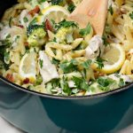 One Pot Creamy Lemon Chicken Pasta
