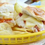 hawaiian-bbq-ham-and-cheese-sliders-basket