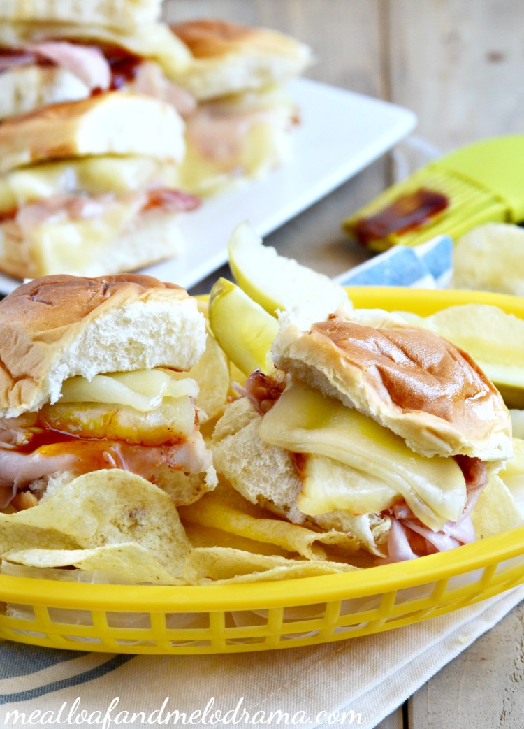 hawaiian-bbq-ham-and-cheese-sliders-recipe