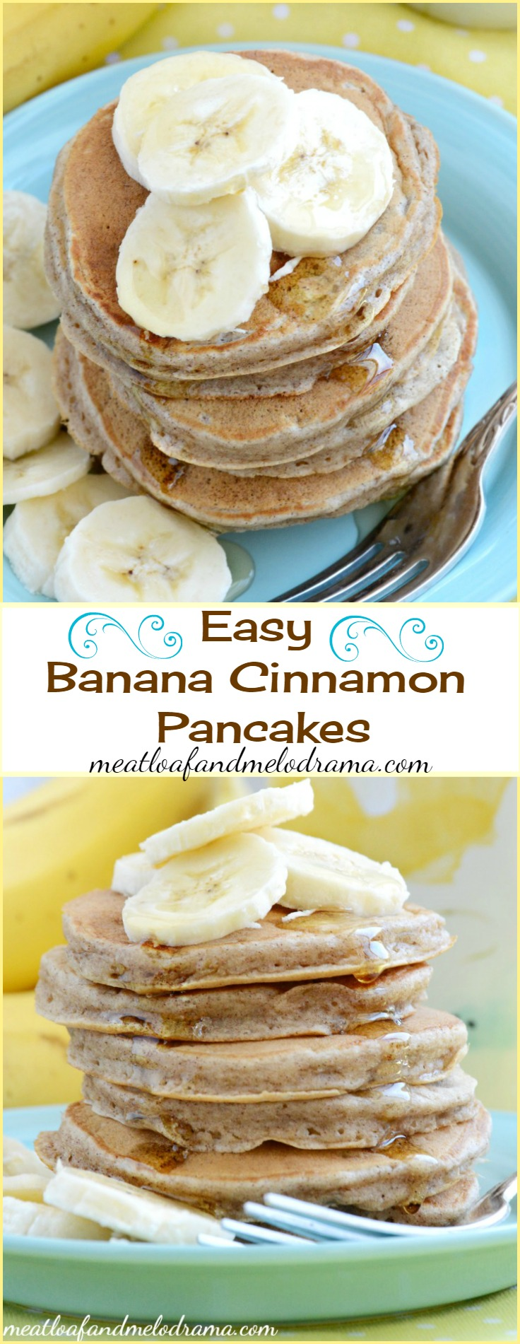 Easy Banana Cinnamon Pancakes