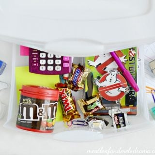 Easy Dorm Desk Organizer