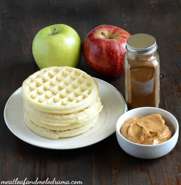 ingredients-peanut-butter-apple-waffle-sandwiches