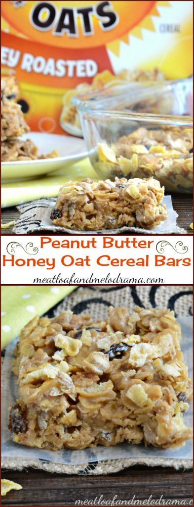 Peanut Butter Honey Oat Cereal Bars