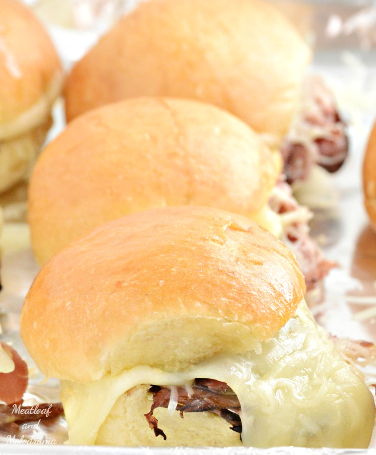 cheesy-baked-roast-beef-sliders-sandwiches-provolone-cheese