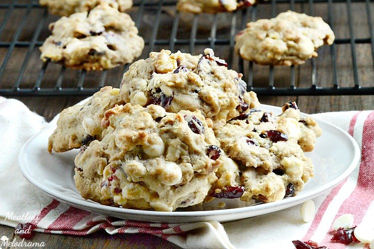 Oatmeal Cranberry Walnut White Chocolate Chip Cookies