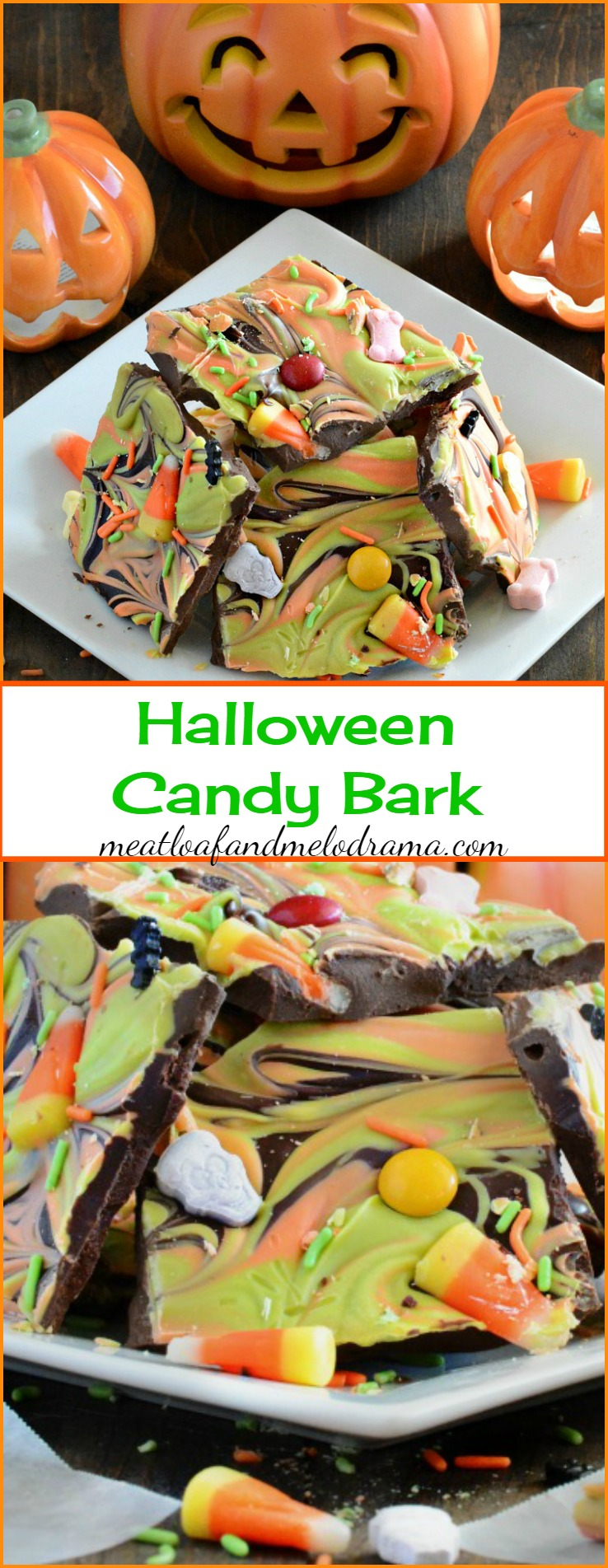 Easy Halloween Candy Bark Recipe