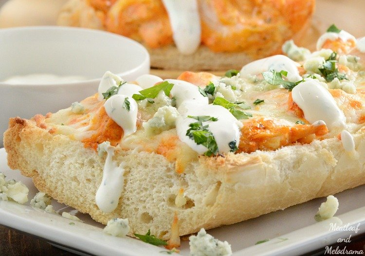 easy-buffalo-chicken-french-bread-pizza-ranch-gorgonzola-cheese-recipe-meatloafandmelodrama.com