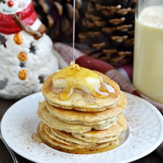 easy-eggnog-pancakes-honey-drizzle