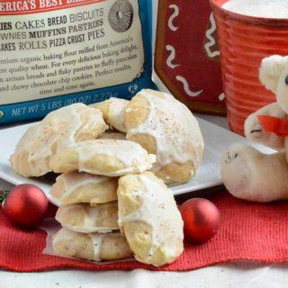 Easy Glazed Eggnog Cookies