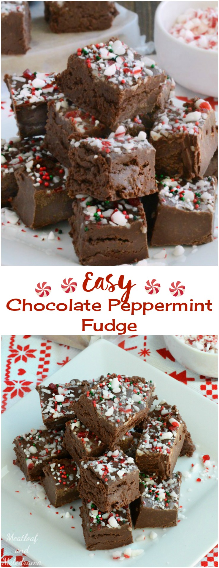 Easy Chocolate Peppermint Fudge