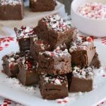 easy chocolate peppermint fudge no bake holiday treat