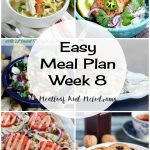 Easy Meal Plan Week 8
