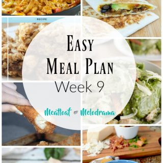 Easy Meal Plan Week 9