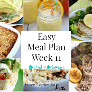 Easy Meal Plan Week 11