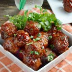 Slow Cooker Honey Chipotle BBQ Meatballs