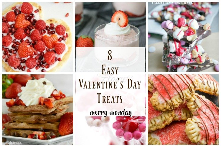 8 easy valentine's day treats collage
