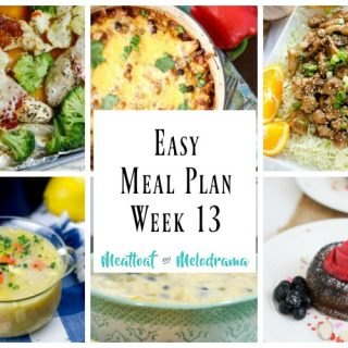 Easy Meal Plan Week 13