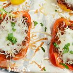 Sheet Pan Italian Stuffed Peppers
