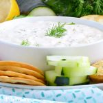 easy cucumber dill dip recipe with veggies