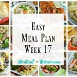 easy meal plan 17 collage