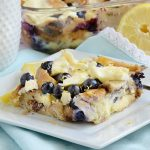 Lemon Blueberry Bagel Breakfast Casserole