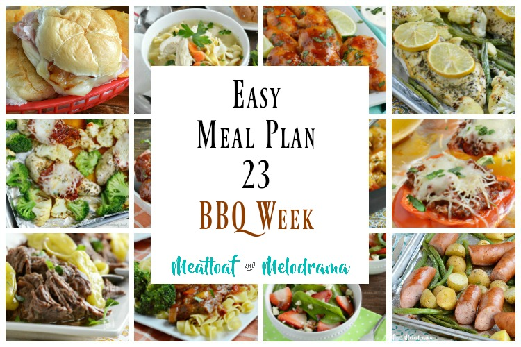 easy meal plan 23 BBQ week collage