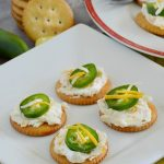 ritz crackers with cream cheese and jalapeno peppers