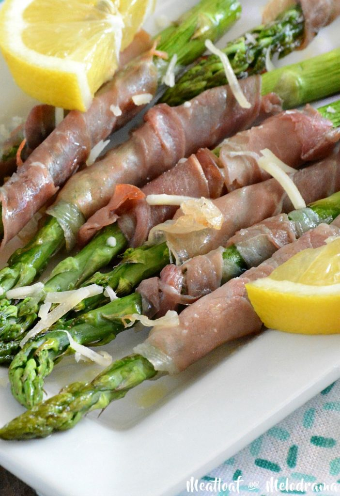 roasted parmesan prosciutto wrapped asparagus with lemon recipe