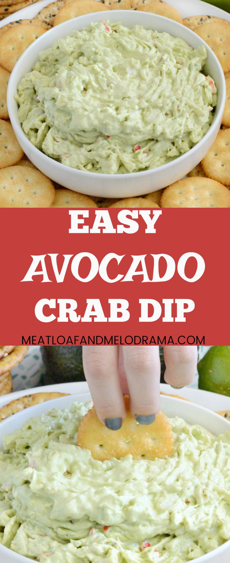 Easy Avocado Crab Dip - Meatloaf and Melodrama