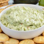 easy avocado crab dip with crackers
