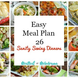 easy meal plan 26 photo collage of dinners
