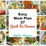 easy meal plan 27-quick fix dinners collage