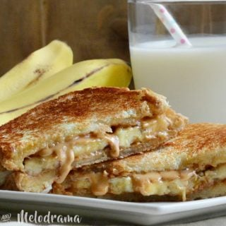 Grilled Peanut Butter Banana Sandwich